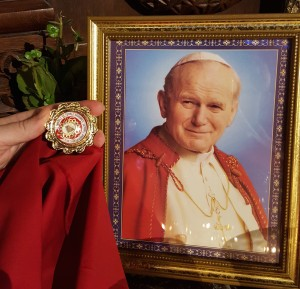 First Class Relic of the St. John Paul II Society